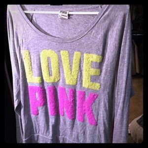 Pink embellished crew